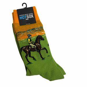 Hot Sox Men's Novelty Horse Jockey Socks NWT